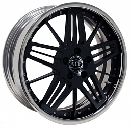 Диск ATP Sturm & Drang 9x20/5х120 ET52 D72.6 Black/Polished rim